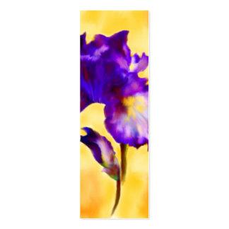 Señales púrpuras del iris (flor) tarjetas de visita mini