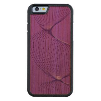 Señales púrpuras torcidas del dolor funda de iPhone 6 bumper cerezo