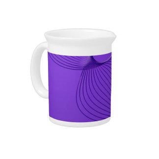 Señales púrpuras torcidas del dolor jarras de beber