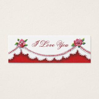 Señales reversibles románticas de la tarjeta del tarjetas de visita mini