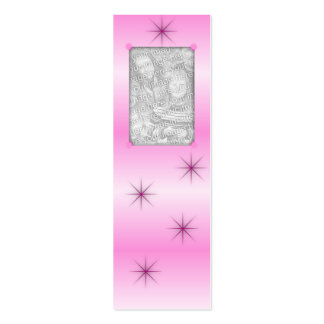 Señales rosadas de la chispa plantilla de tarjeta personal