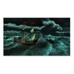 Señales salvajes y tempestuosas del mar tarjeta de visita
