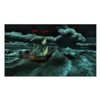 Señales salvajes y tempestuosas del mar tarjetas de visita