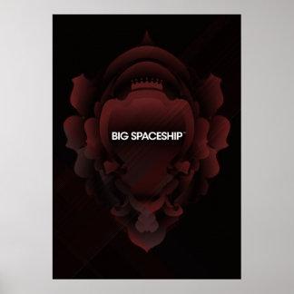 Señalización grande de la nave espacial póster