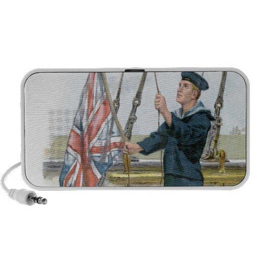 Señalización real del marinero de la marina de gue laptop altavoces