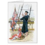 Señalización real del marinero de la marina de gue felicitación
