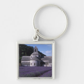 Senanque Abbey, Gordes, Vaucluse, Provence, 2 Silver-Colored Square Keychain