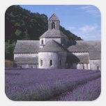Senanque Abbey, Gordes, Vaucluse, Provence, 2 Square Stickers