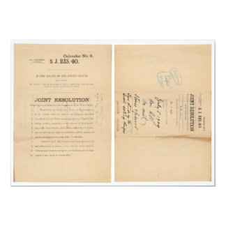 Senate Joint Res 40 16th Amendment Income Tax Card