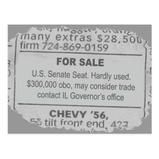 Senate Seat For Sale Postcard