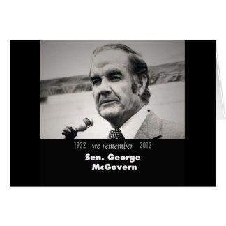 Senator George McGovern 1922-2012 Card
