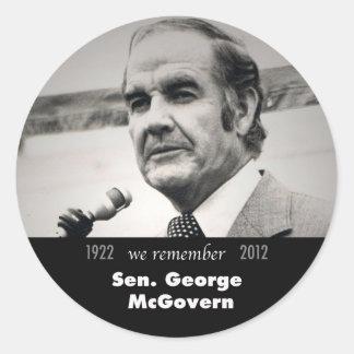 Senator George McGovern 1922-2012 Classic Round Sticker