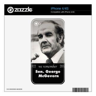 Senator George McGovern 1922-2012 iPhone 4S Decal