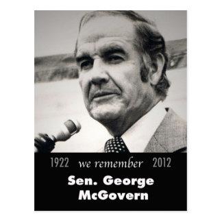 Senator George McGovern 1922-2012 Postcard