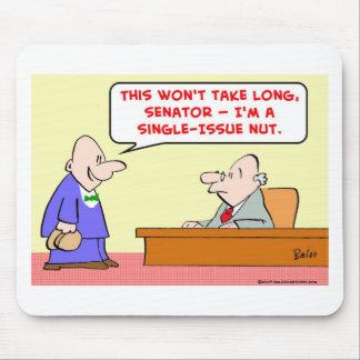 senator single-issue nut mouse pad