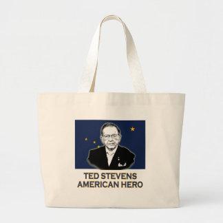 Senator Ted Stevens T-shirt American Hero Canvas Bags