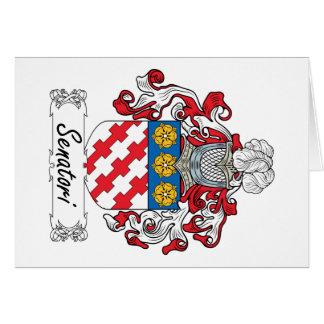 Senatori Family Crest Card