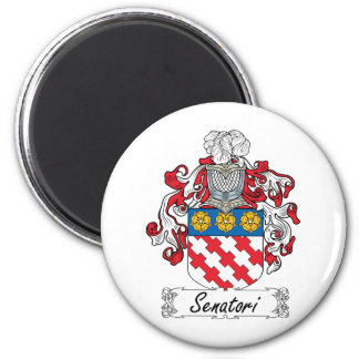 Senatori Family Crest 2 Inch Round Magnet