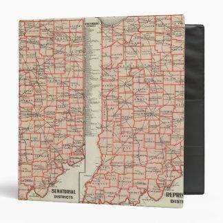 Senatorial districts 2 vinyl binders