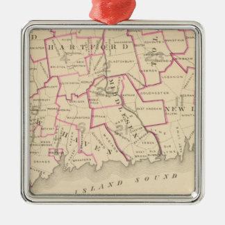 Senatorial districts metal ornament