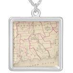 Senatorial districts square pendant necklace