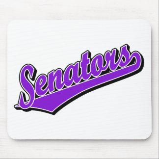 Senators in Purple Mouse Pad