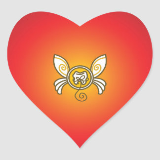Send a Message From The Tooth Fairy! Heart Sticker