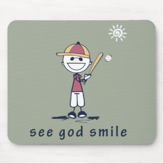 Send A Positive Message -> See God Smile (TM) Mouse Pad