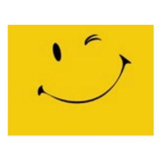 Send a Smile - Smiley Face Postcard