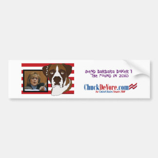 Send Barbara Boxer to the Pound in 2010 Bumper Sticker