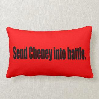 Send Cheney into battle Lumbar Pillow