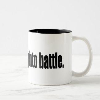 Send Cheney into battle. Two-Tone Coffee Mug