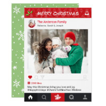 Send Christmas Wishes with Instagram Frame Photo Card