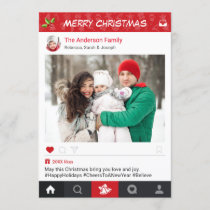 Send Christmas Wishes with Instagram Frame Photo Holiday Card