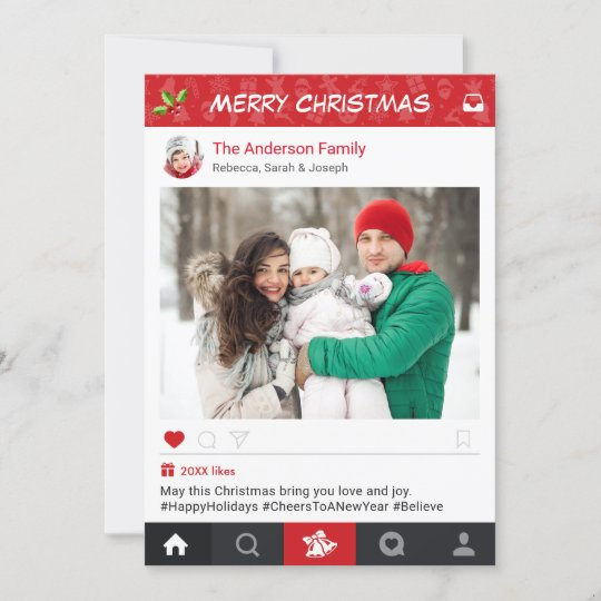 Send Christmas Wishes With Instagram Frame Photo Holiday