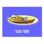 Send Food! Postcard