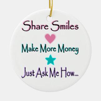 Send Greeting Cards Ceramic Ornament