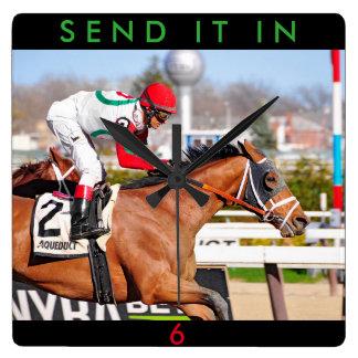Send It In - John Velasquez Square Wall Clock