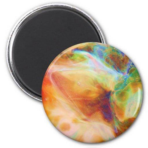 Send it to Fractal Rainbow Stars Flower Art Magnet