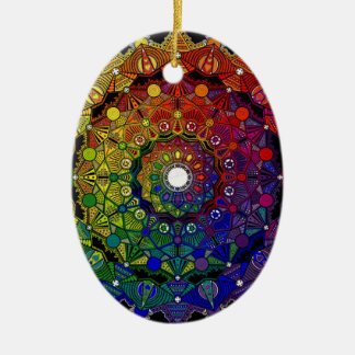 Send it to multicoloured force and protection - M1 Ceramic Ornament