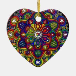 Send it to multicoloured love and protection - M2 Ceramic Ornament
