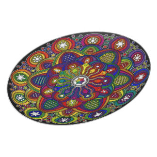 Send it to multicoloured love and protection - M2 Dinner Plates