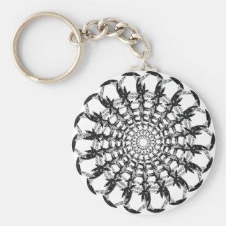 Send it V Basic Round Button Keychain