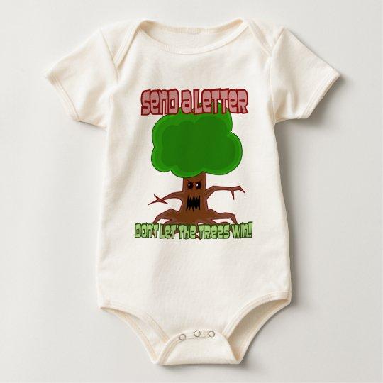 Send Letter Trees Win Design Baby Bodysuit