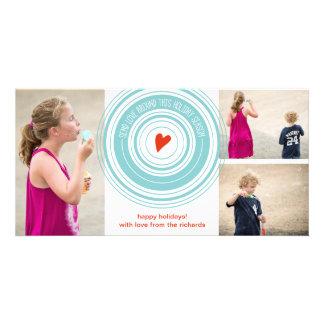 Send Love Around x3 Photo Card