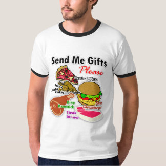 """""""Send Me Gifts for My Cafe"""" Ringer T-Shirt"""