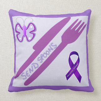 Send Spoons Throw Pillows