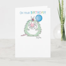 SEND THE FURRY BEAST Birthday Card