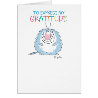 SEND THE FURRY BEAST Thank You Greeting Card