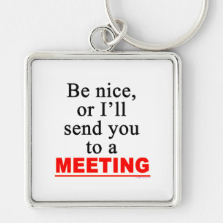 Send You To A Meeting Sarcastic Office Humor Keychain